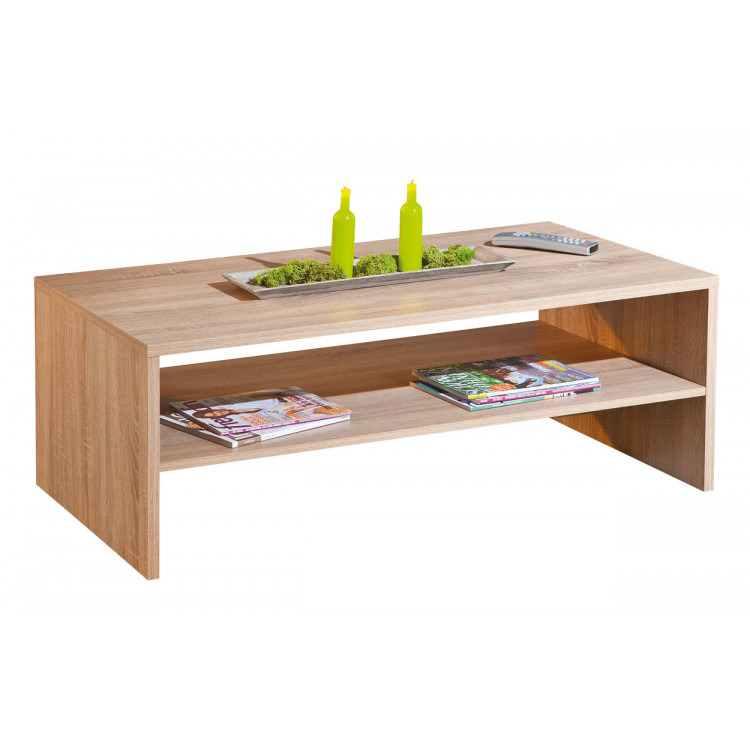 Table basse contemporaine coloris chêne Sylvano