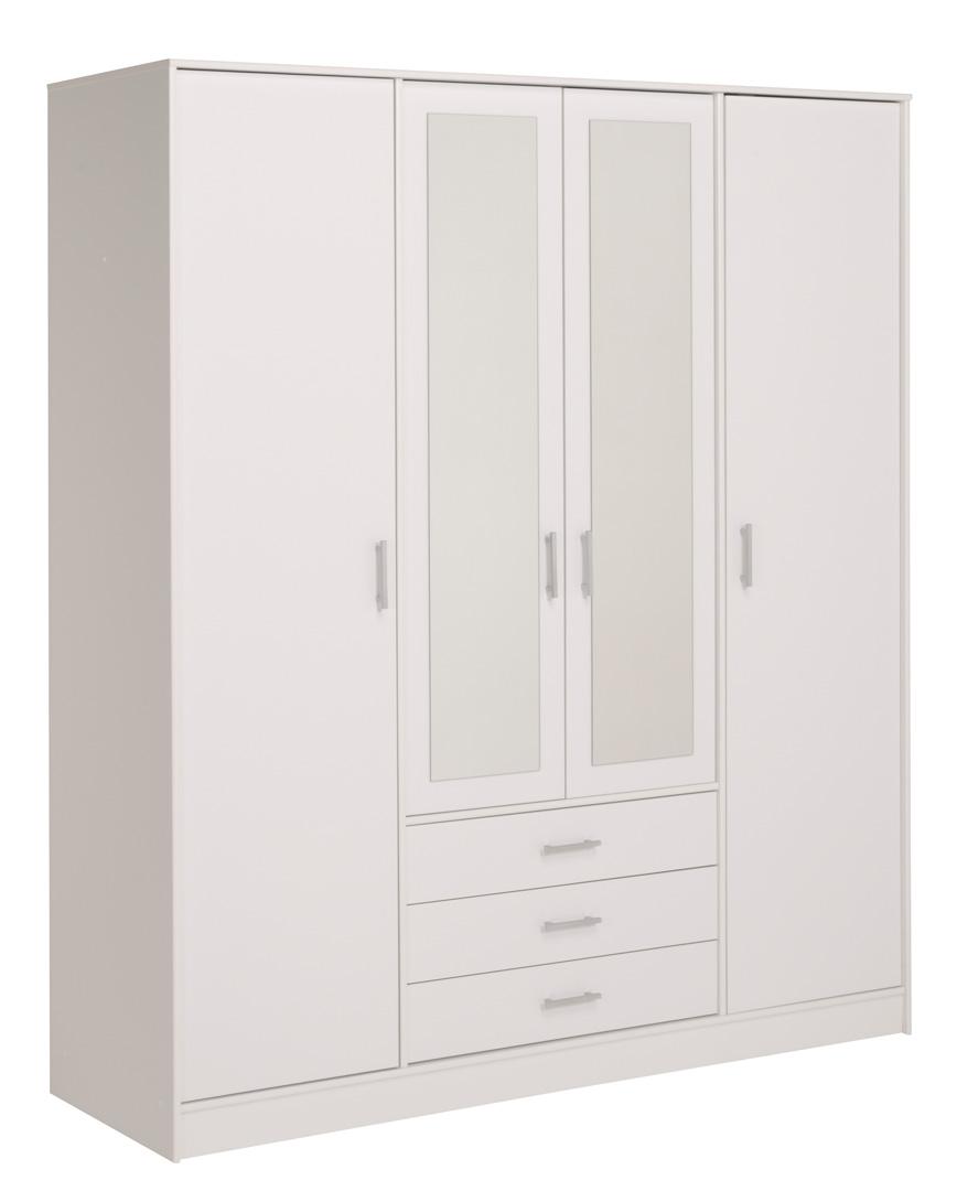 Armoire 4 portes/3 tiroirs VITAL