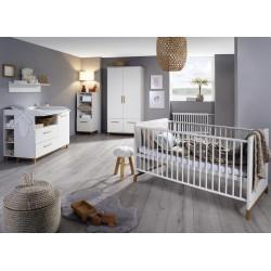 Chambre bébé scandinave blanc/chêne Edisson