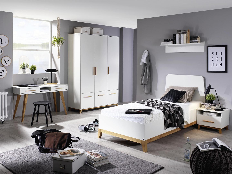 Chambre enfant scandinave blanc/chêne Edisson