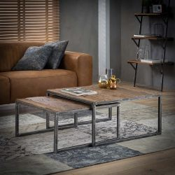 Table gigogne vintage en bois Carmela II