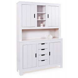 Buffet contemporain en pin massif blanc Cordoba