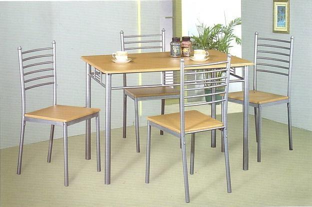 Ensemble table de cuisine et 4 chaises METZ