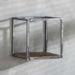 Etagère en métal et bois 30 cm Séverine