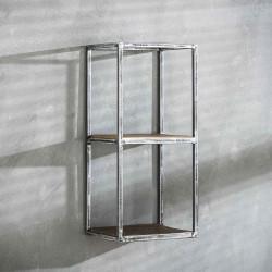 Etagère haute en métal et bois 65 cm Séverine