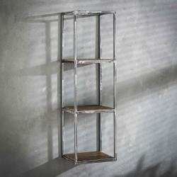 Etagère haute en métal et bois 100 cm Séverine