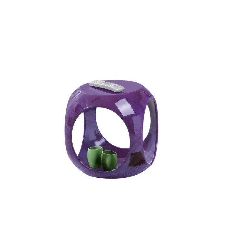 Table d'appoint carrée design violette Nano