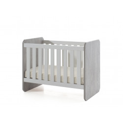 Lit bébé évolutif contemporain blanc/chêne Sonia