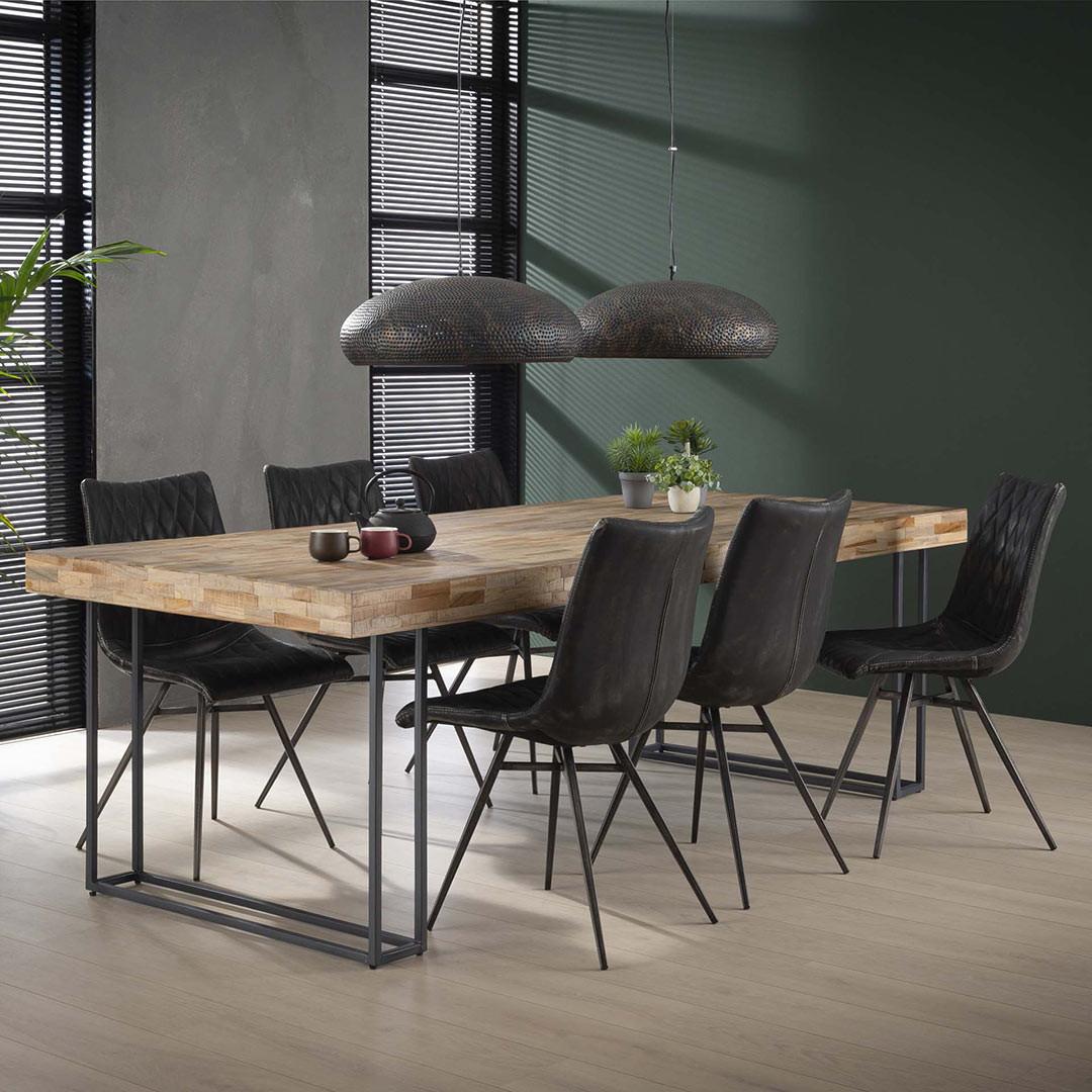 Table À Manger Industrielle table à manger industrielle en bois recyclé 300 cm daria