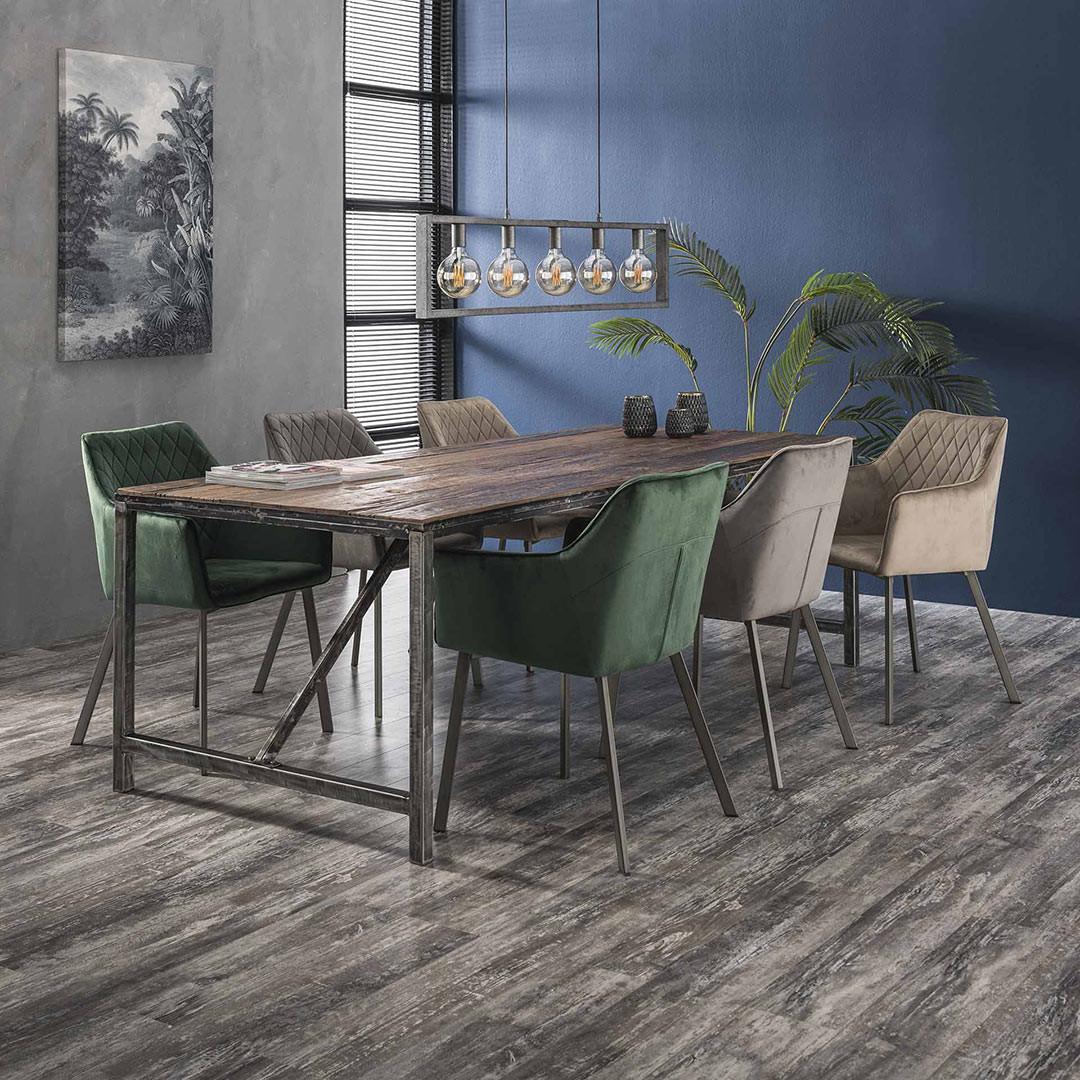 Table À Manger Industrielle table à manger industrielle en bois 240 cm selenia