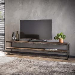 Meuble TV industriel en bois 180 cm Selenia