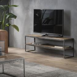 Meuble TV industriel en bois 130 cm Selenia