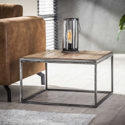 Table d'appoint en métal et bois 60 cm Selenia