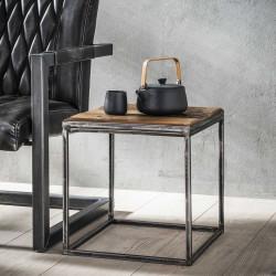 Table d'appoint en métal et bois 40 cm Selenia