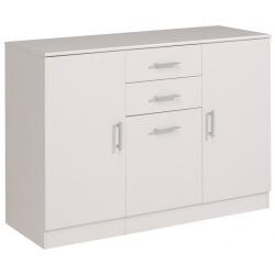 Enfilade 3 portes et 2 tiroirs VITAL blanc
