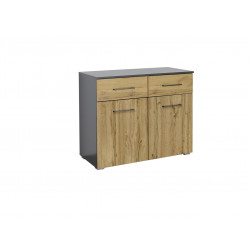 Commode adulte moderne chêne/anthracite Sierra