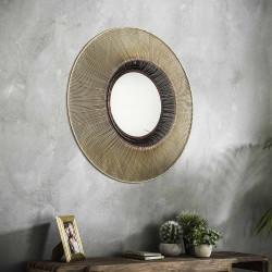 Miroir rond en métal Ø80 cm Solaris