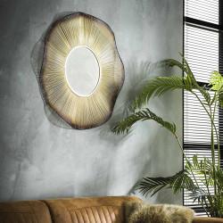 Miroir rond en métal Ø80 cm Arya