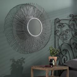 Miroir rond en métal Ø80 cm Romeo