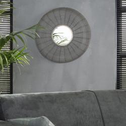 Miroir rond en métal Ø65 cm Angèle