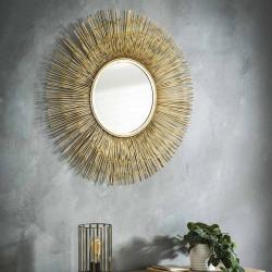 Miroir rond en métal Ø80 cm Noemie