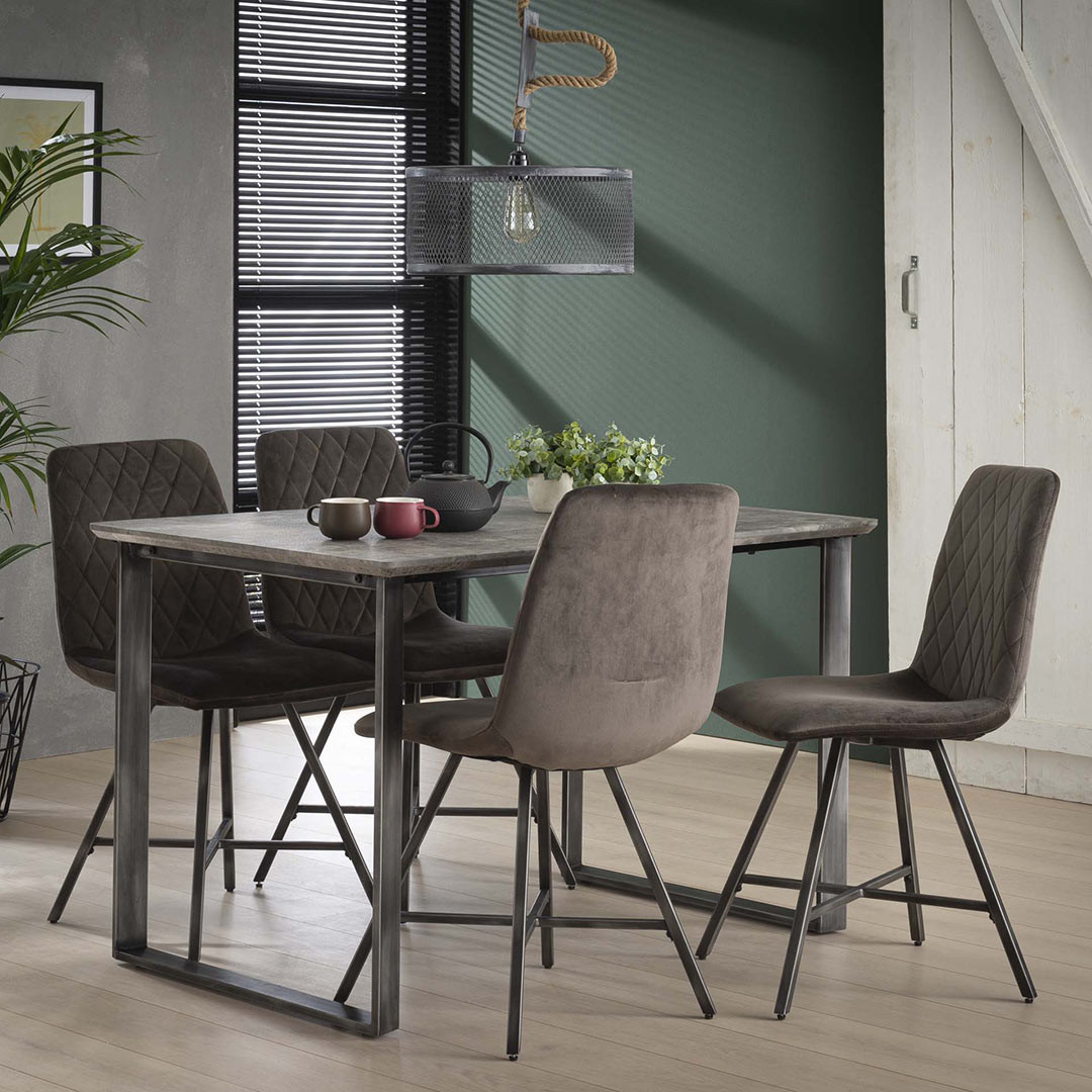 Table À Manger Industrielle table à manger industrielle en bois diego