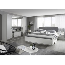 Chambre adulte moderne blanc/gris Oklaoma