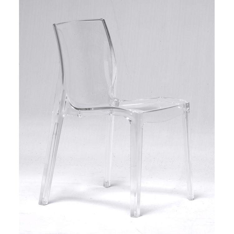 Chaise contemporaine transparente Alita