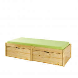Lit enfant style nature en pin massif Lauriane