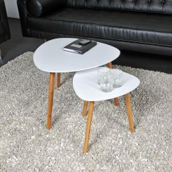 Ensemble de 2 tables basses gigognes scandinaves Ivara