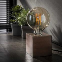 Lampe à poser industrielle en métal coloris cuivre Cubix