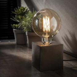 Lampe à poser industrielle en métal coloris noir Cubix