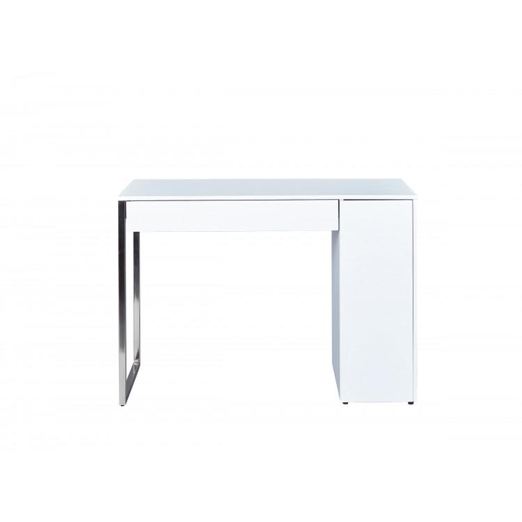 Bureau design en bois blanc mat Swanie