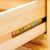 Buffet/bahut style campagne 130 cm en pin massif Vilo