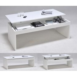 Table basse relevable contemporaine 120x60 cm Maily
