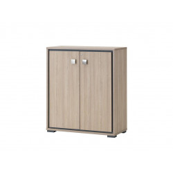 Armoire de bureau contemporaine H 112 cm chêne clair Margaux
