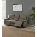 Canapé de relaxation électrique 3 places en tissu Melville
