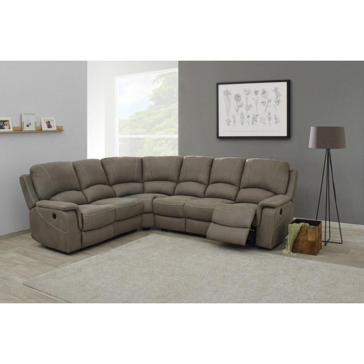 Canapé d'angle de relaxation électrique en tissu Melville