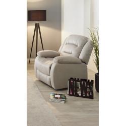 Fauteuil de relaxation manuel en tissu beige Pretoria