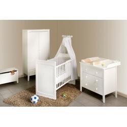 Chambre bébé complète coloris blanc Maelys