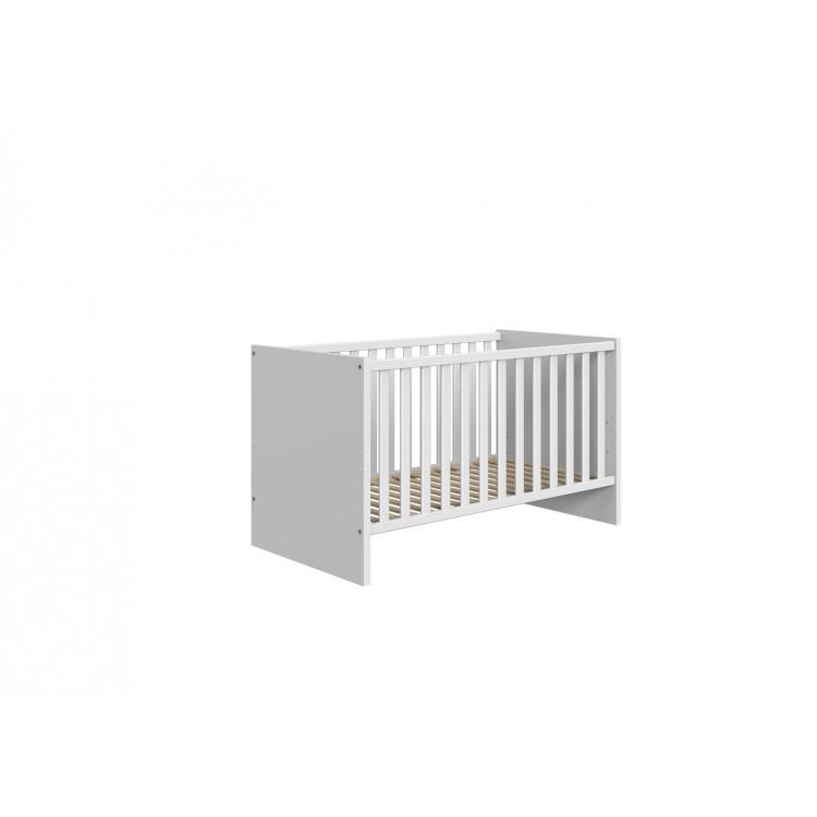 Lit bébé scandinave blanc/chêne Jessi
