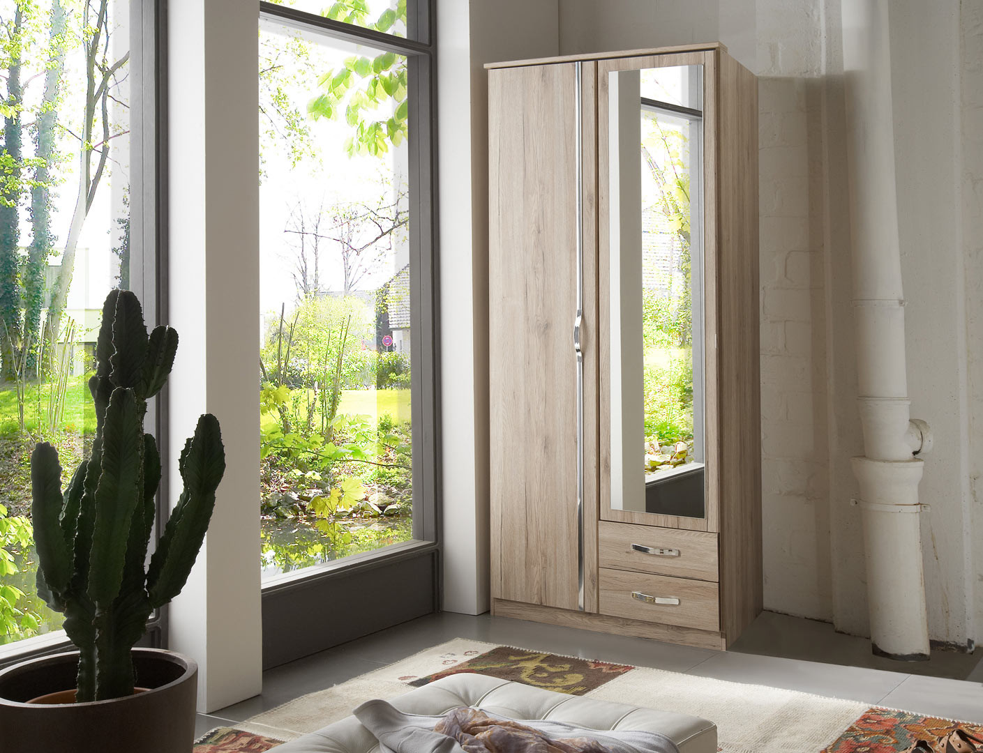 Armoire contemporaine 91 cm Mirza