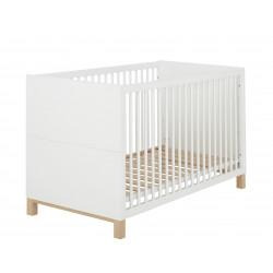 Lit bébé évolutif scandinave blanc Bérénice