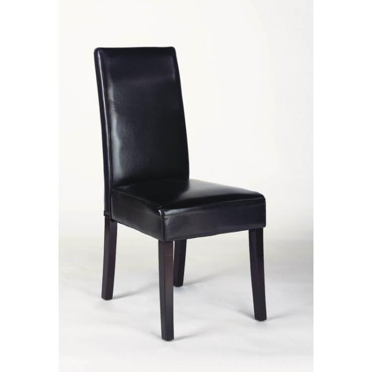 Chaises de salle à manger contemporaines en PU brun (lot de 2) Barneo