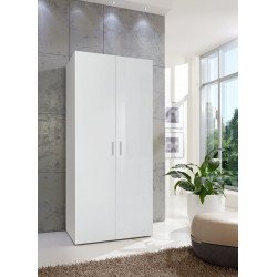 Armoire contemporaine blanche 80 cm Shella