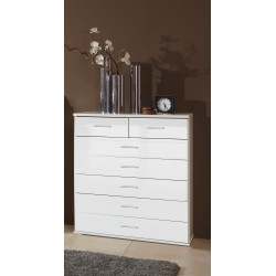 Commode contemporaine blanche Shella