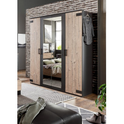 Armoire adulte industrielle 180 cm Madrid