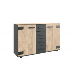 Commode adulte industrielle 130 cm Madrid