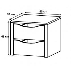 Bloc 2 tiroirs 43 cm Johana
