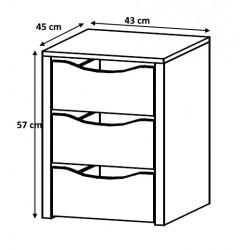 Bloc 3 tiroirs 43 cm Johana